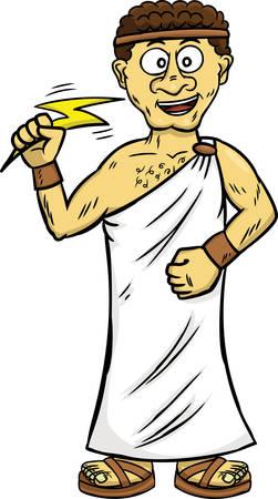 Young Zeus Cartoon