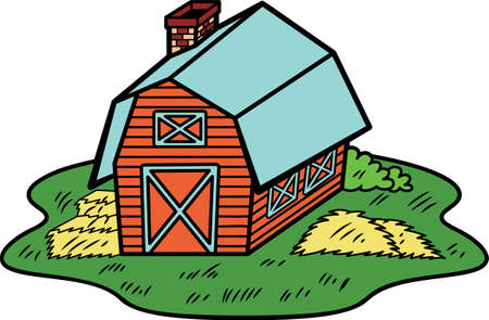 Barn House Illustration Illustration