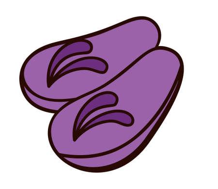 sandals isolated: Sandals Illustration Isolated on White Illustration