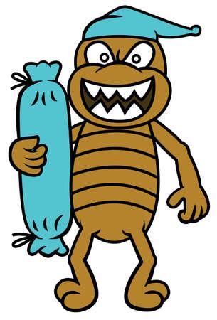 Bed Bug con il sostegno del fumetto