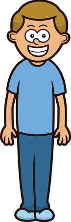skinny: Skinny Man Cartoon Character