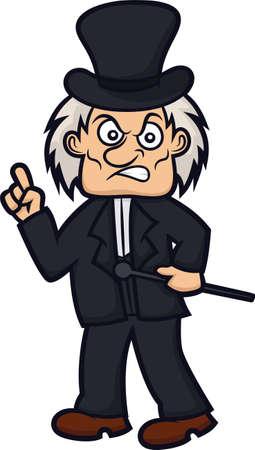 エベニーザーと、スクルージの漫画のキャラクター