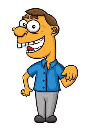 joking: Laughing Man Cartoon
