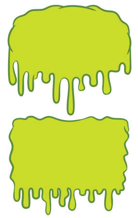 Slime Blank Background Sign Cartoon