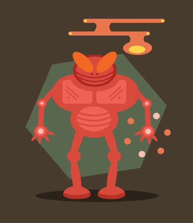 Robot Bug Vector Illustration