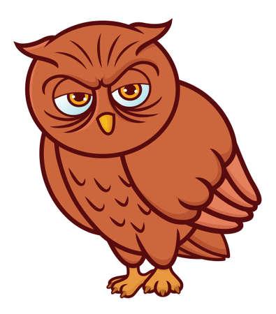 Owl Cartoon 向量圖像