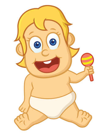 baby playing toy: Baby Cartoon