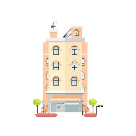 Apartment flat design illustration Stok Fotoğraf - 111712304