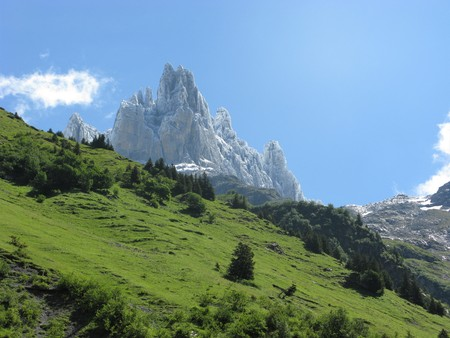 Impressive pinnacles near Engelberg, Switzerland