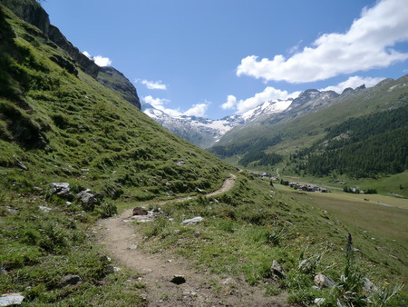 Footpath near Engelberg, Switzerland