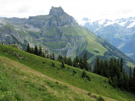Hahnen mountain and meadows near Engelberg, Switzerland