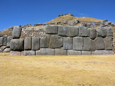 Inca stone wall at Saqsaywaman, Cusco, Peru