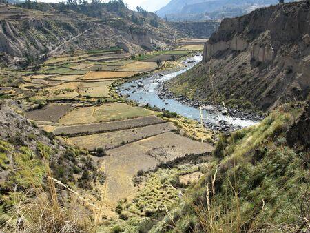 Colca River near Yanque, Peru