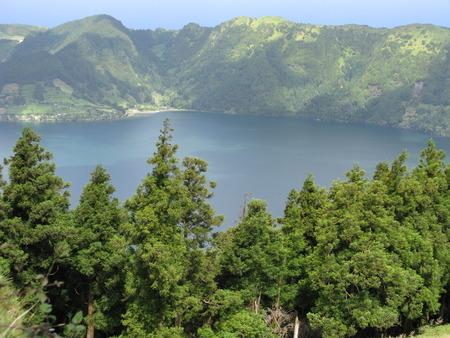 Lake at Sete Cidades on Sao Miguel island, The Azores