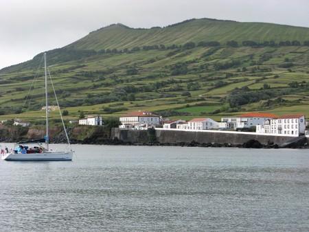 Sailing boat at Praia, Graciosa island, The Azores
