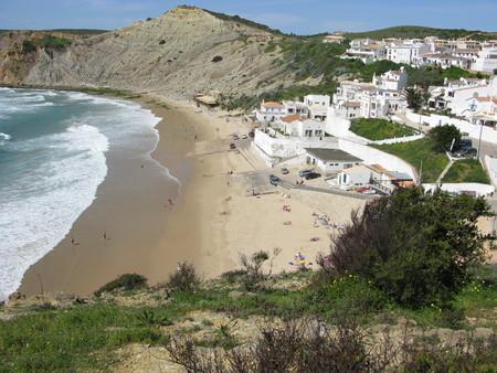 Burgau village and beach on the Algarve, Portugal