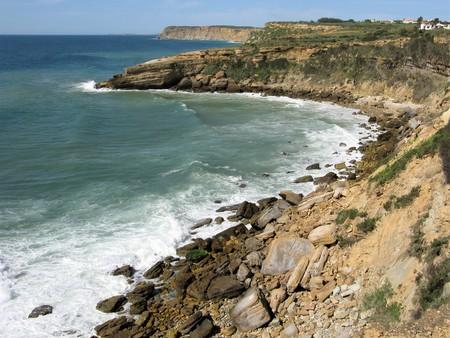 Bays and headlands on the Algarve coast, Portugal
