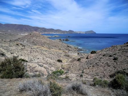 Deserted coast in the Cabo de Gata Natural Park, Spain Stock Photo