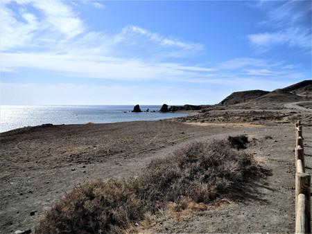 Deserted coast at Cabo de Gata Natural Park, Spain Stock Photo