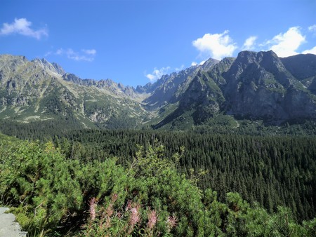 Stunning view of the High Tatra mountains in Slovakia