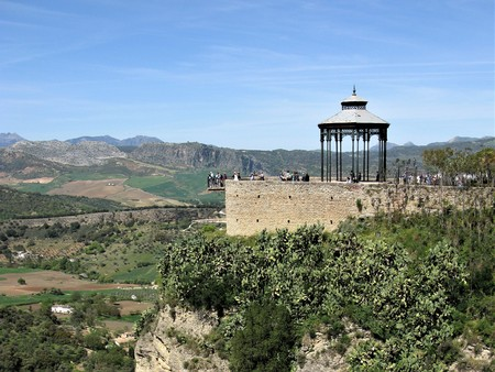 Viewpoint at Ronda, Andalucia, Spain Stock Photo