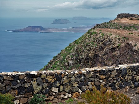 View from a mirador on Lanzarote to the Chinijo Archipelago
