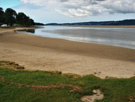 View across the Kent River estuary at Arnside at mid tide, Cumbria