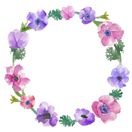 Watercolor Anemone Frame