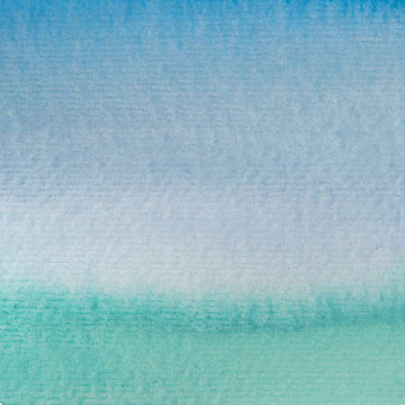 Painted Blue and Teal Watercolor Background Wash
