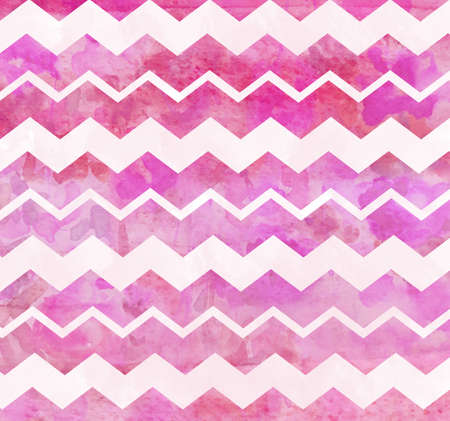 Pink Watercolor Chevron Background Stok Fotoğraf