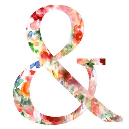 ampersand: Ampersand With Floral Patterned Background  Girly Ampersand