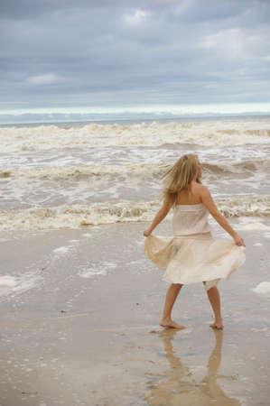 Beautiful woman on the beach Stock Photo - 2354842