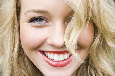 laughing: Beautiful girl laughing