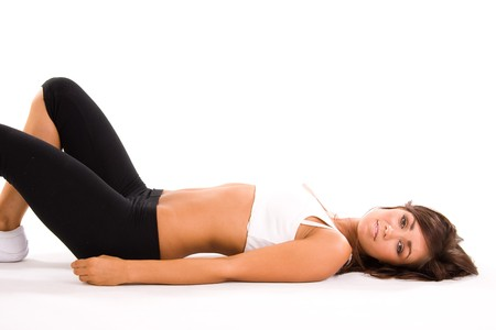 beauiful girl working out Stock Photo - 4427728