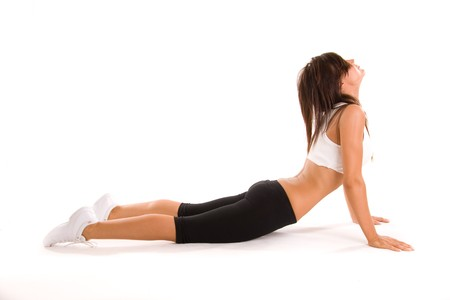 flexable: beauiful girl working out Stock Photo