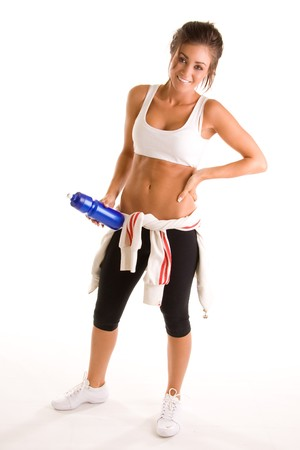 beauiful girl working out Stock Photo