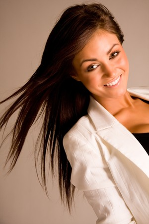 beautiful brunette girl photo