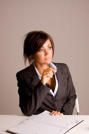 beautiful young business woman Stock Photo - 4427804