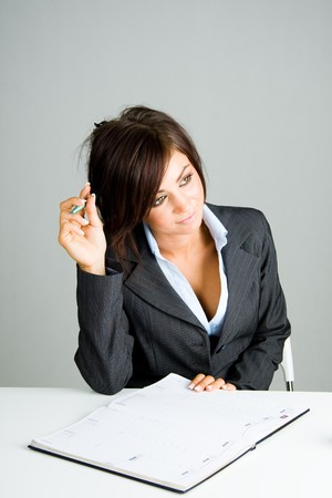 beautiful young business woman Stock Photo - 4427805