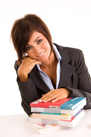 beautiful young business woman Stock Photo - 4427823