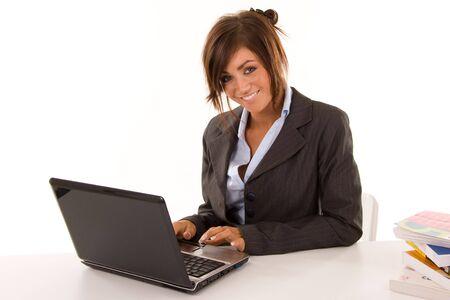 beautiful young business woman Stock Photo - 4427732