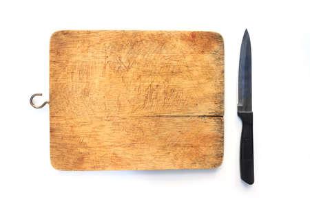まな板の上のナイフ 写真素材
