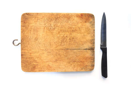 knife on a cutting board Stock Photo