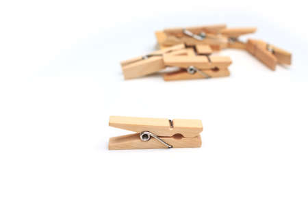 clothespin on white background photo