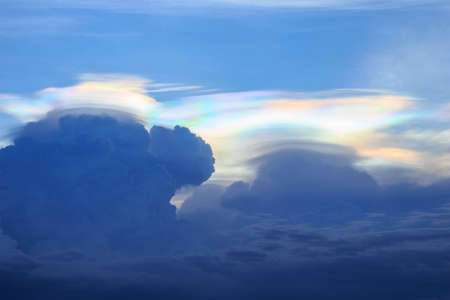 diffraction: corona iridescent on cloudy Stock Photo