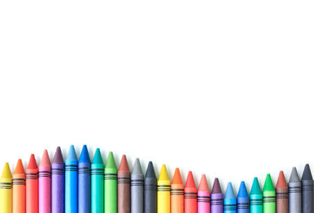 crayon drawing border multicolored background Reklamní fotografie - 57396861