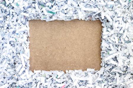 shredding: board paper recycle document shredding environmental conservation Stock Photo