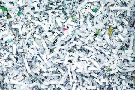 セキュリティ秘密リサイクル [背景に用紙を細断処理