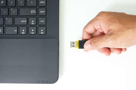 flash drive: usb flash drive memory stick on white background