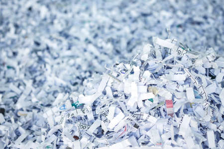 shredding: paper recycle document shredding environmental conservation Stock Photo